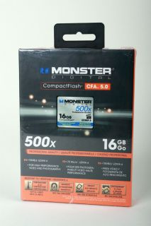 Monster Digital Professional 16GB Compact Flash CF Card 500x UDMA 6