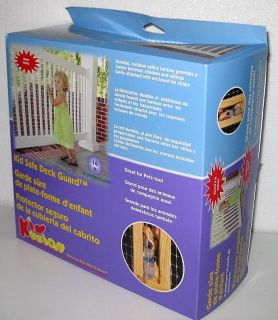 KIDKUSION KID SAFE DECK GUARD Baby Child Pet Porch Fence Gate Netting