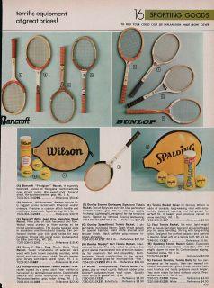 Tennis Rackets Bancroft Wilson Dunlop Evonne Goolagong Spalding