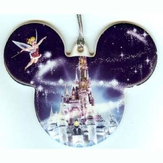 DISNEY Holiday Castle MICKEY Mouse Ears Tinkerbell Christmas Ornament