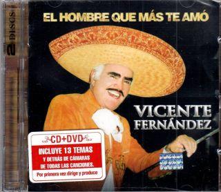 Vicente Fernandez El Hombre Que mas TE AMO CD DVD