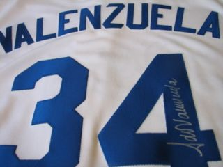 Fernando Valenzuela Signed MLB Auth Dodgers Jersey