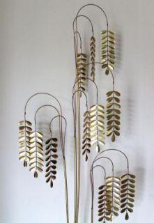 Curtis C Jere Original Signed Golden Metal Abstract Modern Art