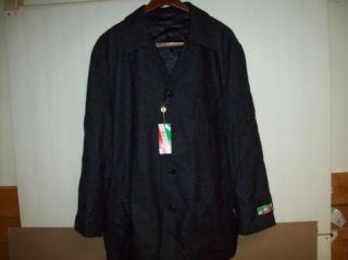 NWT new SAN FELICE Gray Wool Coat Jacket Mens XL