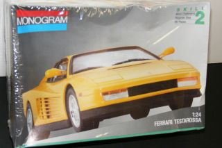 Ferrari Testarossa YELLOW model car kit 1 24scale MONOGRAM 1991 SEALED