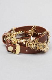 La Mer The Multi Leaf Gold Chain Wrap Watch