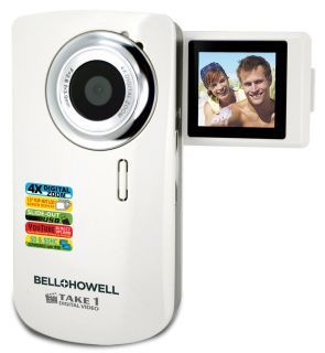 Bell Howell TAKE1 Digital Video Flip Camcorder with Case Cables