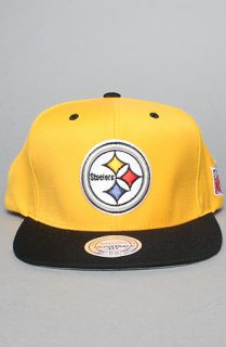 Mitchell & Ness The Pittsburgh Steelers Wool Snapback Hat Black Yellow