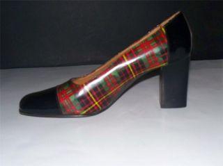 Ralph Lauren Womens Black Leather Pumps Classic Heels Dress Shoes