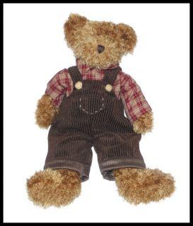 Avon Russ Fitzsimmons Teddy Bear Brown Overalls Plush