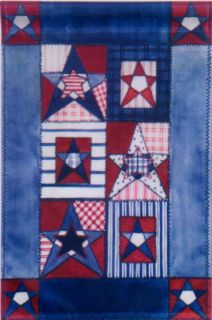 Patriotic Theme Red White Blue Small Mini Garden Flag 12x18 New