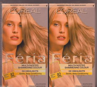 Loreal Feria Shimmering Colour 3x Highlights Gentle Med Ash Blonde