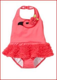 Gymboree Palm Beach Paradise Pink Flamingo Swimsuit