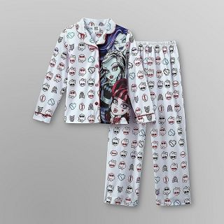 Monster High 2 PC Skull Pajama Set Draculaura Frankie Stein Spectra 7