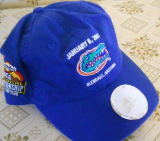 NCAA Florida Gators BCS Baseball Hat New w Tag NE Blue Orange