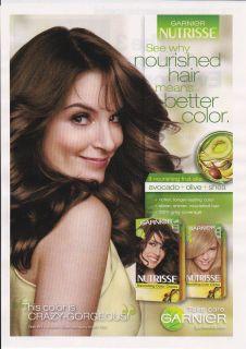 Garnier Nutrisse Hair Color Creme Magazine Print Ad Tina Fey