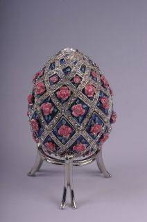 Faberge Easter Egg music box by Keren Kopal Swarovski Crystal Jewelry