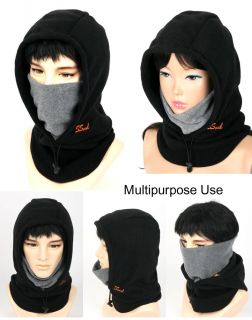 Full Face Mask Neck Warmer Hood Balaclava Outdoor Winter Sports 3 in 1