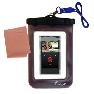 waterproof camera case for the flip slidehd unique floating design