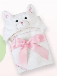 Bearington Baby 24 Purrfect Kitty Hooded Towel New