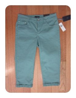Your Daughters Jeans Sage Brush P32592 Fiona Cuffed Crop Jeans 2P $84