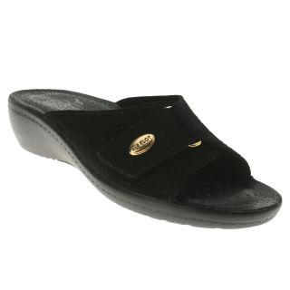Fly Flot Silvia Leather Slide Black Womens Shoes All Sizes
