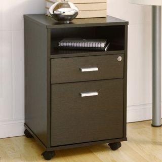 Terra Matte Wood Veneer Cappuccino Finish File Storage Cabinet