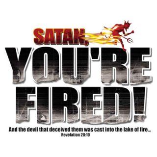 Tshirt Satan Youre Fired Jesus Christian God Bible Faith Saved Lord