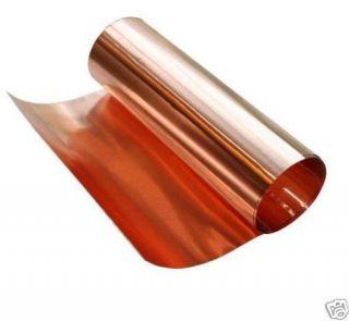 Copper Thin Foil Sheet 1 Mil 001 18 x 20 Roll