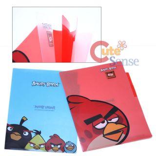 Rovio Angry Birds Multipurpose File Holder 3 Tab Poly Folder Set