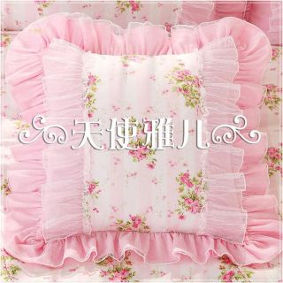 Shabby French Chic Princess Floral Pink Cushion Cover Pillow Case Sham