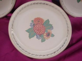 Antique Dishes Paden City Pottery Floral Mums Chrysanthemums 1 Bowl 3