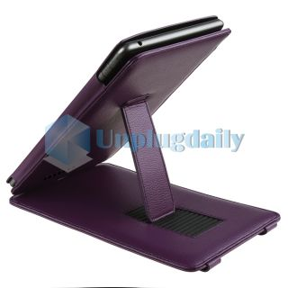 For Nook Tablet Premium Folio Leather Slim Case Cover Pouch with Stand