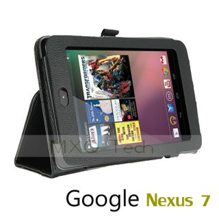Folio PU Leather Case Cover Stand for Asus Google Nexus 7 inch Tablet