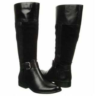 Womens Anne Klein Cailan Wide Calf Black Leather