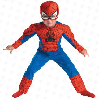 Super Hero Muscle Toddler Boy Halloween Costume Age 3T 4T