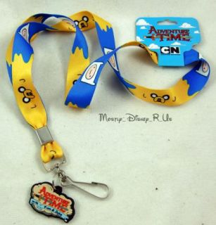 Adventure Time with Finn and Jake Lanyard with Charm New