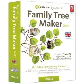 Family Tree Maker 2009 Deluxe Edition New