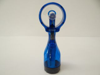 Deluxe Water Misting Fan Blue Perfect for Sporting Events Theme Parks