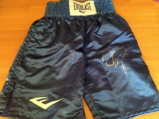 Floyd Mayweather Jr Signed Autographed Everlast Boxing Trunks Shorts
