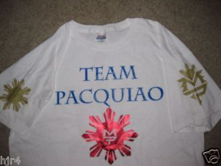Manny Pacquiao Team Pacman Boxing T Shirt 2X 2XL New