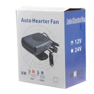 New Auto Heater Fan 12V 150W Interior Heater Fan Defroster For Plug In