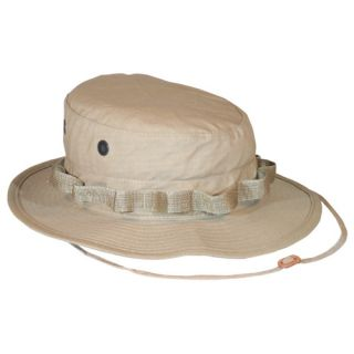 Tan Ripstop Bush Boonie Hat Vietnam Era Hot Weather Fishing Hat