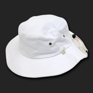 White Outback Style Boonie Bucket Fishing Hat Hats L XL