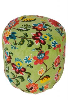 FNE EHS Ottoman Stool Velvet Indian Pouf Foot Stool Cover Decor
