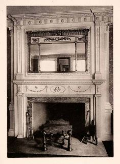 1901 Collotype Mantel Mirror Home Improvement Decor Fireplace Colonial