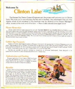 clinton lake kansas camping fishing keyed map 1980