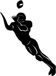 Football Wide Receiver Vinyl Decal Car Window Sticker