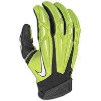 NIKE FOOTBALL GLOVES Superbad 2 0 Padded OREGON VOLT NFL ADULT LARGE