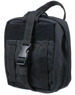 EMT Rip Away Medic Pouch First Aid Kit Bag EMT EMS Police Black